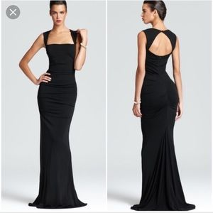 Nicole Miller Black Felicity gown new with tags